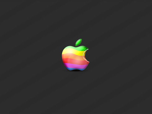 wallpaper mac. Retro Grunge Apple Wallpaper