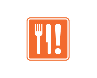 spoon fork knife based logo