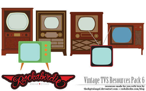 free vintage vector elements